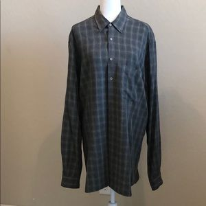 Giorgio Armani Plaid Dress Shirt